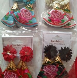 Embroidered Fashion Earrings
